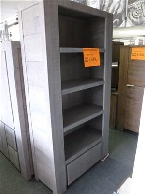 grijs eiken boekenkast