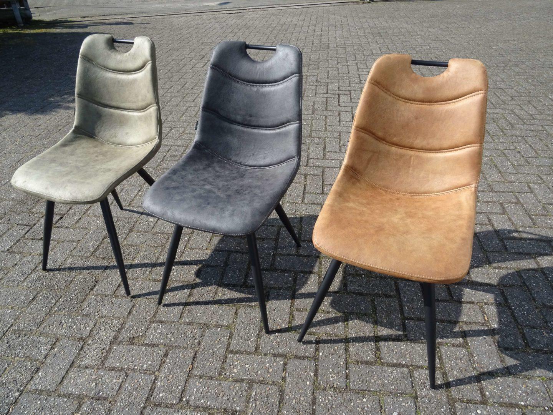 Microvezel Stof Stoel : Mx sofa eetkamerstoel barossa in drie kleuren microvezelstof de