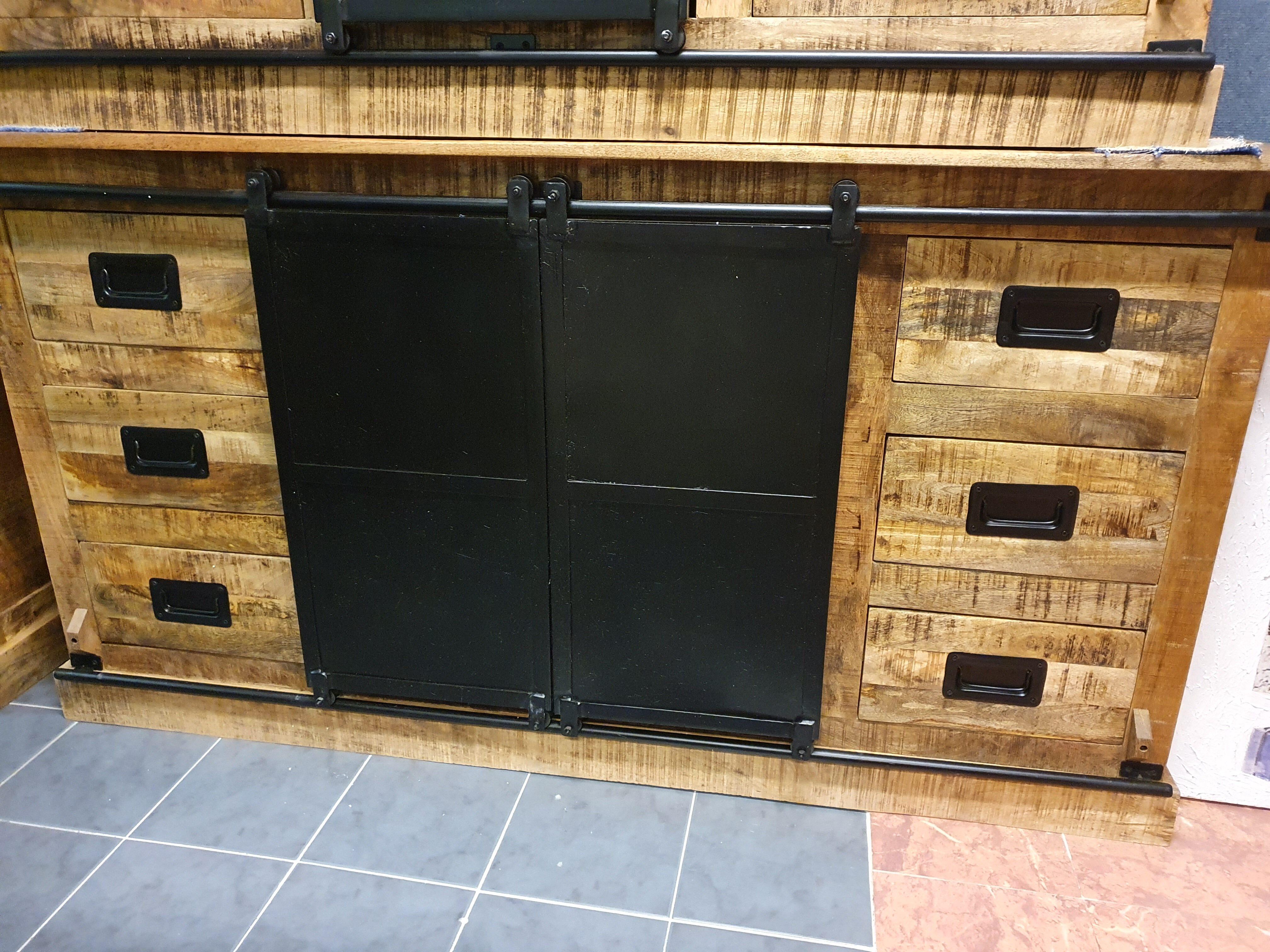 industrieel manghouten dressoir 170cm